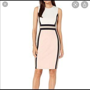 Calvin Klein pink & black women's sleeveless dress